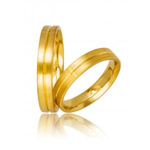 Βέρες Γάμου Χρυσές Στεργιάδης 736 Κ9 Κ14 ή Κ18 4.00 χιλ.