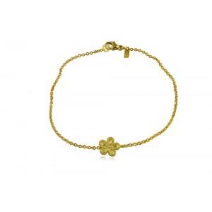 Αρχαϊκό βραχιόλι με μαργαρίτα από Χρυσό Κ18 και διαμάντι