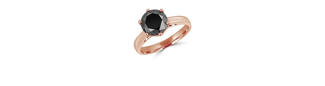 Μονόπετρα με μαύρο διαμάντι