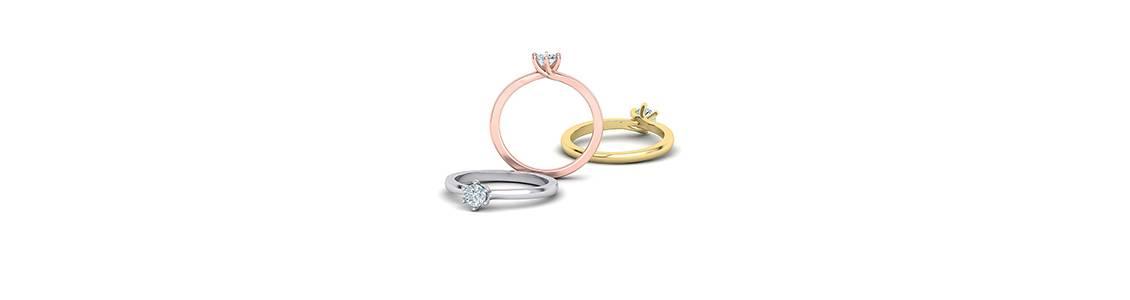 Μοναδικά Μονόπετρα Δαχτυλίδια με διαμάντια και πολύτιμες πέτρες