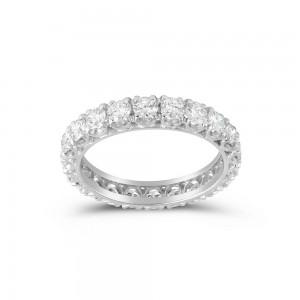 Δαχτυλίδι ολόβερο σειρέ με διαμάντια 3.00ct από λευκόχρυσο Κ18