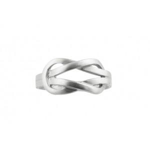 """Δαχτυλίδι """"Ο Κόμπος του Ηρακλέους"""" από επιροδιωμένο ασήμι 925°"""