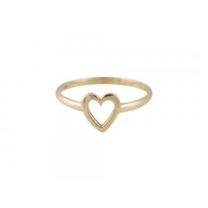 """Δαχτυλίδι """"Καρδιά"""" από Χρυσό Κ14"""