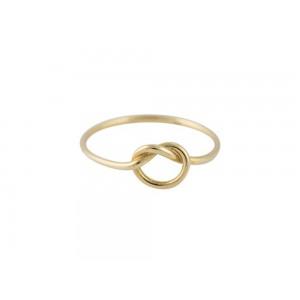 """Δαχτυλίδι """"Κόμπος"""" από Χρυσό Κ14"""