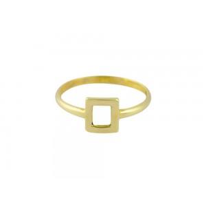 """Δαχτυλίδι """"Τετράγωνο"""" από Χρυσό Κ14"""