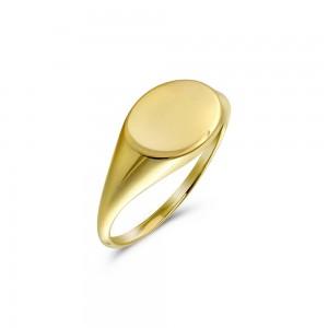 Δαχτυλίδι σεβαλιέ οβάλ από Χρυσό Κ14