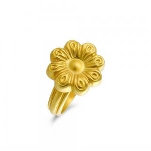 Αρχαϊκό δαχτυλίδι μαργαρίτα από χρυσό Κ18
