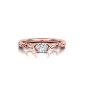 Μονόπετρo δαχτυλίδι ροζ χρυσός Κ18 με διαμάντι 0.24ct άπειρο