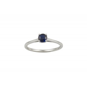 Μονόπετρο δαχτυλίδι από λευκόχρυσο Κ18 με μπλε ζαφείρι 0.27ct