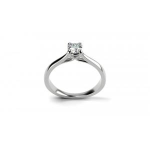 Μονόπετρo δαχτυλίδι από λευκόχρυσο Κ18 και διαμάντι μπριγιάν 0.38ct με πιστοποίηση IGL