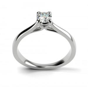 Μονόπετρo δαχτυλίδι από λευκόχρυσο Κ18 και διαμάντι μπριγιάν 0.30ct με πιστοποίηση HRD