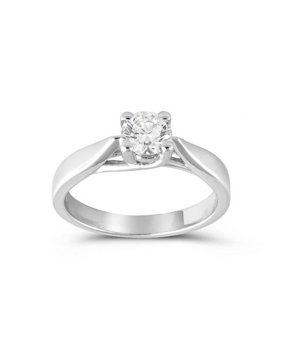 Μονόπετρο δαχτυλίδι από λευκόχρυσο Κ18 με διαμάντι 0.46ct με πιστοποίηση IGI