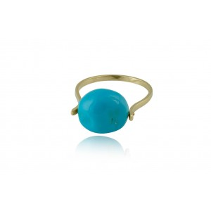 Δαχτυλίδι με Τιρκουάζ από Χρυσό Κ18