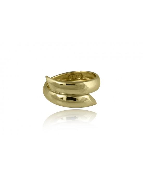 Δαχτυλίδι διπλό από Χρυσό Κ14