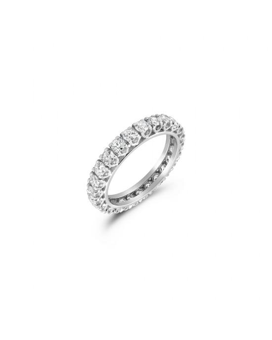 Δαχτυλίδι ολόβερο με 24 πέτρες διαμάντια μπριγιάν 2.17ct