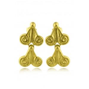 Αρχαϊκά σκουλαρίκια από Χρυσό Κ18