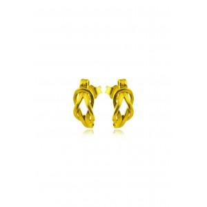 """Αρχαϊκά σκουλαρίκια """"Κόμπος του Ηρακλέους"""" από Χρυσό Κ18"""