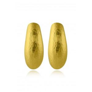 Αρχαϊκά σφυρήλατα σκουλαρίκια από Χρυσό Κ18