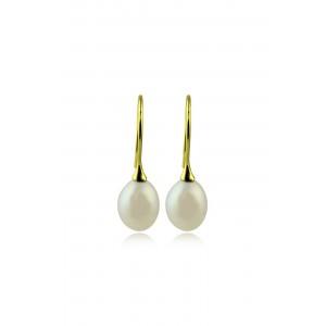 Κρεμαστά σκουλαρίκια με μαργαριτάρια σταγόνα από Χρυσό Κ18