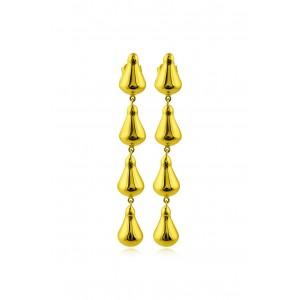 Αρχαϊκά κρεμαστά σκουλαρίκια από Χρυσό Κ18