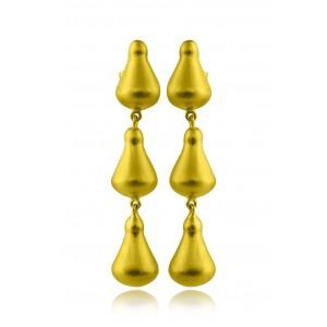 Αρχαϊκά σκουλαρίκια από Χρυσό Κ18 ματ
