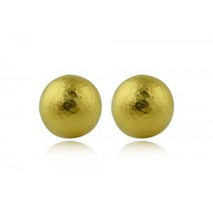 Αρχαϊκά σφυρήλατα καρφωτά σκουλαρίκια από Χρυσό Κ18