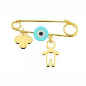Παιδική παραμάνα Κ14 χρυσό αγοράκι με ματάκι και σταυρό