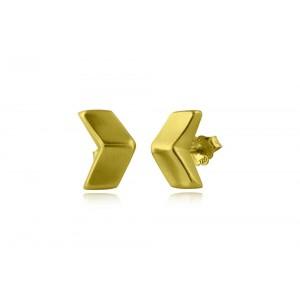 Αρχαϊκά σκουλαρίκια βέλος από Χρυσό Κ18
