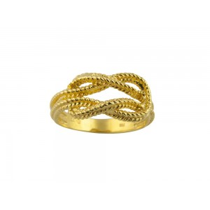 """Δαχτυλίδι """"Κόμπος του Ηρακλέως"""" από χρυσό Κ18"""