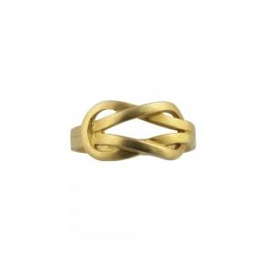 """Δαχτυλίδι """"Ο Κόμπος του Ηρακλέους"""" από επιχρυσωμένο ασήμι 925°"""