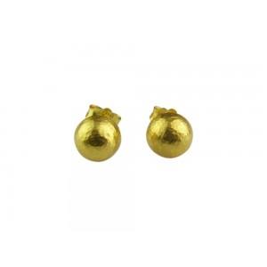 Αρχαϊκά σφυρήλατα σκουλαρίκια από Χρυσό Κ14