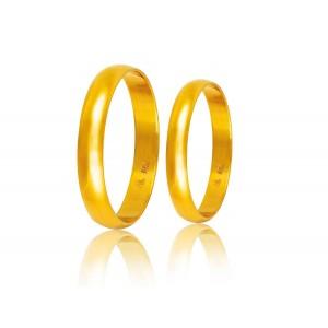 Βέρες Γάμου Χρυσές Στεργιάδης HR1B Κ9 Κ14 ή Κ18 3.00 χιλ.