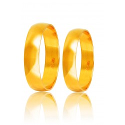 Βέρες Γάμου Χρυσές Στεργιάδης HR3B Κ9 Κ14 ή Κ18 5.00 χιλ.