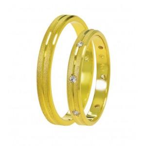 Βέρες Γάμου  Χρυσές Στεργιάδης SAT02 Κ9 Κ14 ή Κ18 2.50 χιλ.