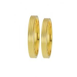 Βέρες Γάμου  Χρυσές Στεργιάδης TRIO5 Κ9 Κ14 ή Κ18 3.20 χιλ.