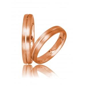 Βέρες Γάμου Ροζ Χρυσός Στεργιάδης 730 Κ9 Κ14 ή Κ18 4.00 χιλ.