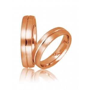 Βέρες Γάμου Ροζ Χρυσός Στεργιάδης 731 Κ9 Κ14 ή Κ18 5.00 χιλ.