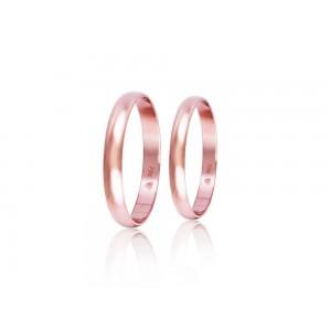 Βέρες Γάμου Ροζ Χρυσός  Στεργιάδης HR1C Κ9 Κ14 ή Κ18 3.00 χιλ.