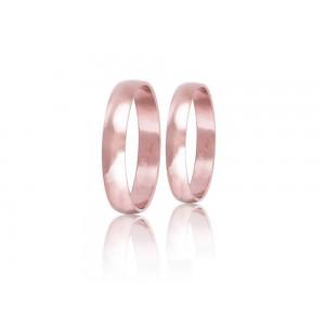 Βέρες Γάμου Ροζ Χρυσός Στεργιάδης HR2C Κ14 4.00 χιλ.