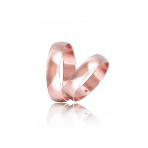 Βέρες Γάμου Ροζ Χρυσός Στεργιάδης HR3C Κ9 Κ14 ή Κ18 5.00 χιλ.