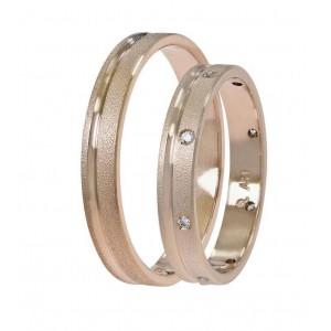 Βέρες Γάμου Ροζ Χρυσός Στεργιάδης SAT03 Κ9 Κ14 ή Κ18 3.00 χιλ.