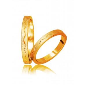 Βέρες Γάμου Στεργιάδης 746 Χρυσές Κ9 Κ14 ή Κ18 3.00 χιλ.