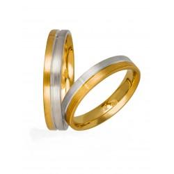 Βέρες Γάμου Δίχρωμες Στεργιάδης 736 Κ9 Κ14 ή Κ18 4.00 χιλ.