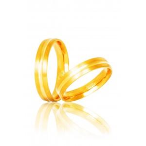 Βέρες Γάμου Xρυσές Στεργιάδης S15 Κ9 Κ14 ή Κ18 4.00 χιλ.